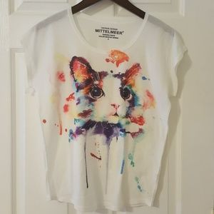Multicolor Cat Blouse